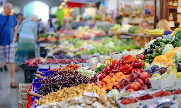 Farmer's market - fruits and vegetables