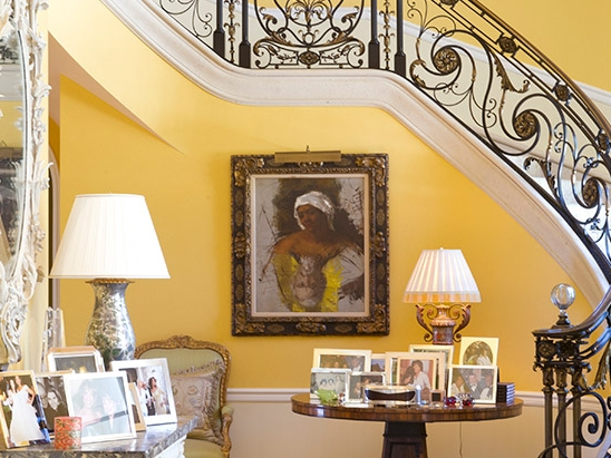 foyer, entrance hall, stairs, Oprah's mansion