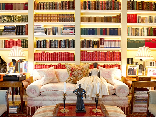 library, home, Oprah's house, mansion, celebrity