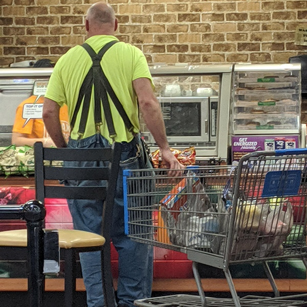 overalls, suspenders Walmart people