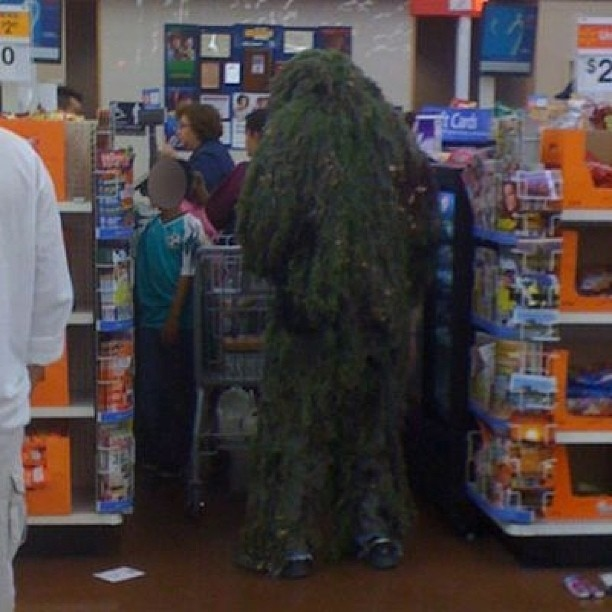 Gillie suit, walmart people