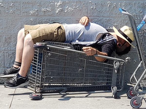 sleeping at walmart