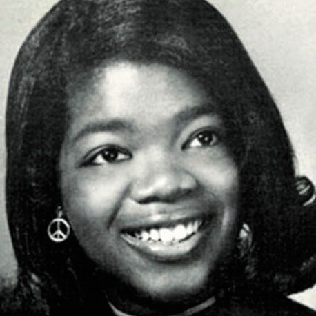 Oprah, young, student,
