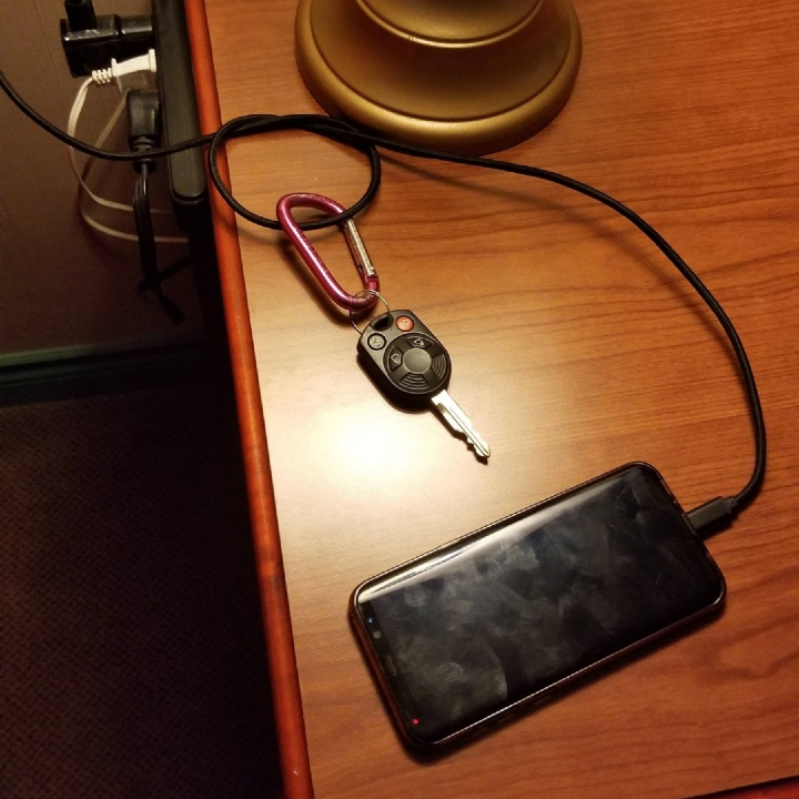 hotel hack, phone charger hotel hack