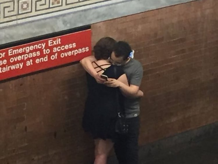 subway love, on cell phones
