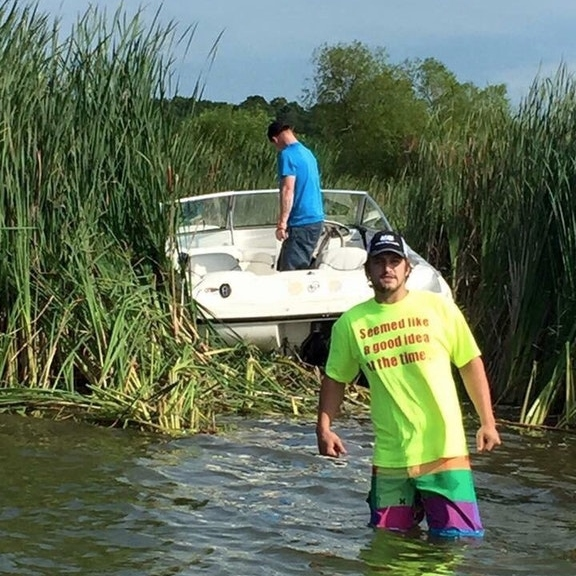 boat accident, funny shirt