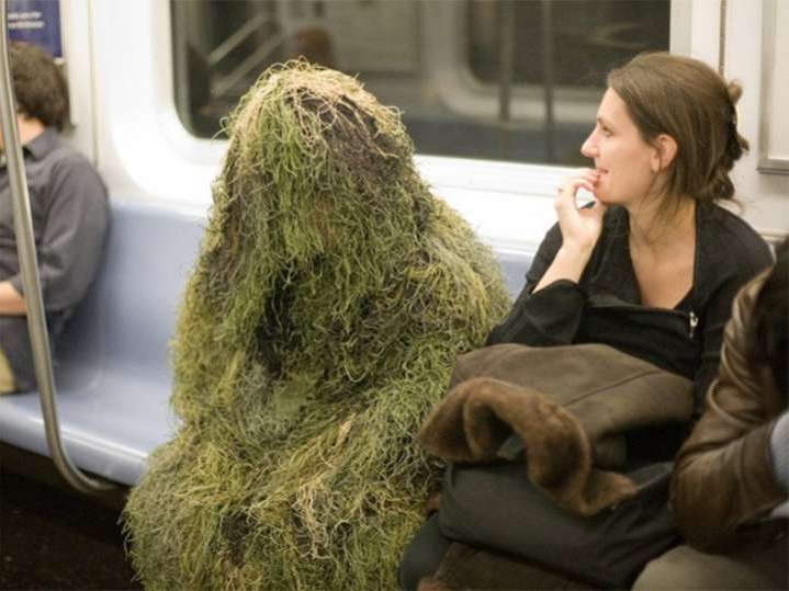 subway gillie suit