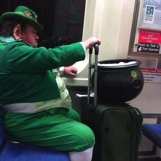 train leprechaun, subway leprechaun