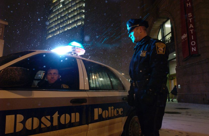 Boston Police patrol