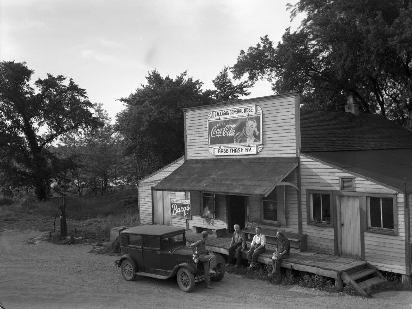 Small town general store, circa 1937